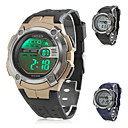 Men's Multi-Colored Lights and Multi-Functional Rubber Digital Automatic Wrist Watch (Assorted Colors)