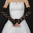 Lace Opera Length Half Finger Bridal Gloves (More Colors)