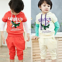 Boys Printing Short Sleeve T-shirt 7/10 Length Pants Set