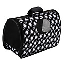Heart Pattern Style Pet Dog Carrier (Medium, Black)