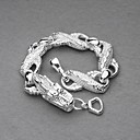 Fashion Silver Plated White Dragon Unisex Bracelet