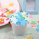 Little Five-point Star Shaped Paper Confetti - Pack of 350 Pieces (Random Color)