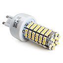 g9 6.5W 120x3528 SMD 400lm 2800-3300K warm wit led corn lamp (220-240v)