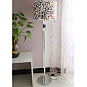 40W Modern Crystal Floor Light with Farbric Shade Animal Print Design