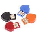 en forme de coeur usb bluetooth dongle adaptateur sans fil (couleurs assorties)