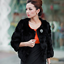 3/4 Sleeve Party/Evening Rabbit Fur Jacket (More Colors)