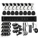 Ultra Low Price 16CH CCTV DVR Kit (H. 264, 8 Outdoor Waterproof&amp; 8 Indoor IR Color Cameras)