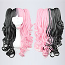 Lolita Curly Wig Inspired by Black and Pink Mixed Color Ponytail 70cm Gothic