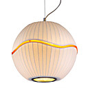 Contemporary 1 - Light Pendant Light in Fibre Shade Globe Designed