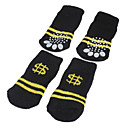 Black with Yellow Stripes Anti-Skid Socks for Dogs (S-L)