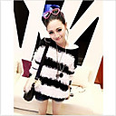 Fashion Lala Black And White Calf Article Leisure Panda Sweater