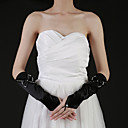 Satin Fingertips Elbow Length Party/ Evening Gloves With Bow