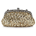 Fabulous Satin with Sequins and Crystals Evening Handbag/Clutches(More Colors)