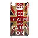 Keep Calm and Carry On UK Flag Pattern Hard Case for iPod Touch 4