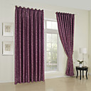 (Two Panels) Classic Stone Jacquard Blackout Curtains