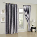 (Two Panels) Geometric Modern Embossed Blackout Curtains