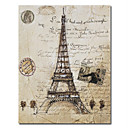 Printed City Paris Eiffel Tower Canvas Art with Stretched Frame