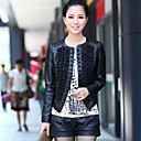 Long Sleeve Party/ Career Lambskin Leather Jacket With Lace (More Colors)