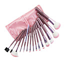 15 Pcs Pink Makeup Brush set
