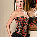 acrilico con jacquard strapless shapewear busk corsetto chiusura anteriore