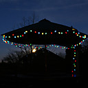 100 colores al aire libre del LED Luces de Navidad Solar Azul Decoracin Regalos lmpara