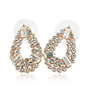 Gorgeous Alloy Colorful Crystal Stud Earrings