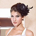 Lovely Black Satin With Flower Women's Fascinators