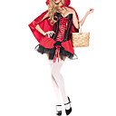 Hot Sexy Little Red Riding Hood Adult Womens Halloween Costume(3Pieces)