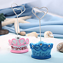 Crown Place Card Holders With 2 4/5 Inch Sticker (Set of 2)