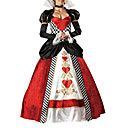 Sexy Woman Queen of hearts alice princess party Halloween costume(2Pieces)