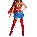 Superman Sexy Adulto Supergirl Mulheres Halloween Costume (4pieces)