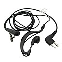 Two Way Radio Handsfree Ear Hook Microphone Mono Earphone with PTT Clamp