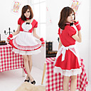 Sweet Love Red Polyester Maid Suit (4 Pieces)