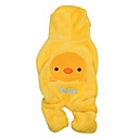 Chicken Baby Sherpa Hoodie with Pants Suit for Dogs (XS-XL, Yellow)