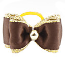 Golden Brim Tiny Rubber Band Hair Bow for Dogs Cats