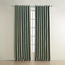 (Two Panels) Stripe Polyester Jacquard Energy Saving Curtains