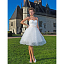 Ball Gown Sweetheart Knee-length Tulle Wedding Dress