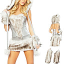 Mignon fourrure de chat femme Halloween Costume (5 Pieces)