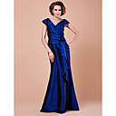 Trumpet/Mermaid V-neck Floor-length Taffeta Mother Of The Bride Dress