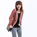 Lovely Long Sleeve Collarless Casual/Evening PU Jacket(More Collar)
