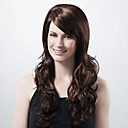 Capless Extra Long Synthetic Dark Coffee European Weave Hair Wig