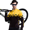 NYXEYE-Men's 100% Polyester  Long-Sleeve Cycling Jersey with Back-Side Brushed Fleece