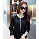 Long Sleeve Collarless Casual/Evening PU Jacket(More Colors)