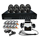 8 canales CCTV DVR Kit (8 Indoor IR Cmara, H.264 DVR)