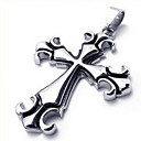 Men's Fashion Steel Cross Pendant(Free Chain)(6.7*4.5*.5CM)