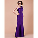 Trumpet/Mermaid One Shoulder Floor-length Taffeta Mother Of The Bride Dress