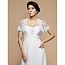 Gorgeous Tulle Short Sleeve Wedding / Special Occasion Jacket / Wrap With Embroidery