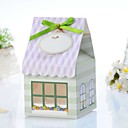 Lovely House Shaped Cake Box (Set von 12)