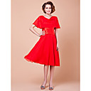 A-line Cowl Knee-length Chiffon Mother Of The Bride Dress