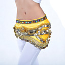 Ladies Polyester With 328 Coins Performance Dance Belt More Colors